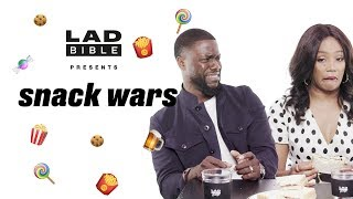 "Kevin Hart & Tiffany Haddish | ""This stuff tastes like roach batter!"" | Snack Wars"