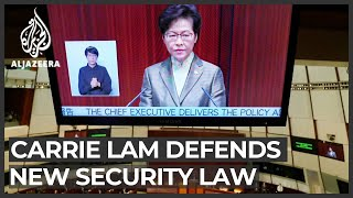 Hong Kong policies: Carrie Lam defends new security law
