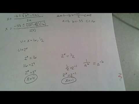 Solve Logarithm Using Substitution