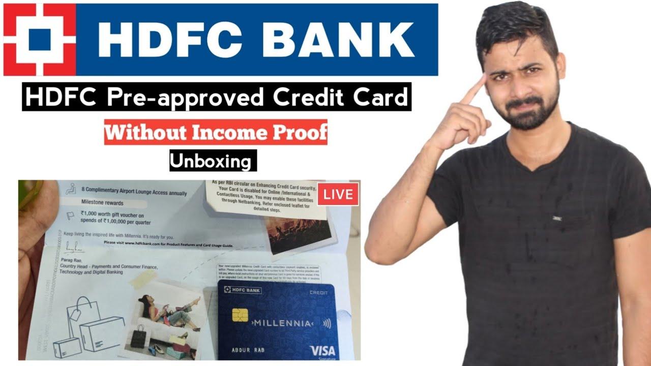 HDFC Bank Pre-approval Charge Card Unboxing Live आपको कैसे मिलेगा as Trainees thumbnail