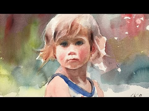 Portrait #116 - How to Paint a Loose Watercolor Portrait of a Young Girl
