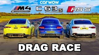[carwow] BMW M4 v AMG C63 v Audi RS5 - DRAG RACE