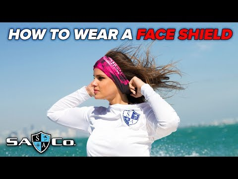 How to wear a Face Shield | SA Fishing TV