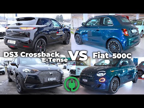 Fiat 500C Electric 2021 vs DS3 Crossback E-Tense Electric 2021