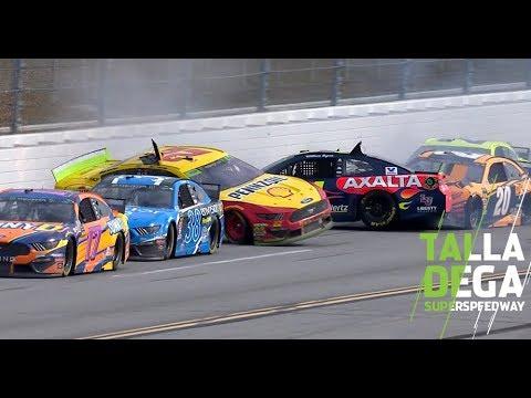 Byron gets turned, hits Logano to cause second 'Big One' | NASCAR at Talladega