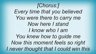 Anthony Callea - You Saved Me Tonight Lyrics