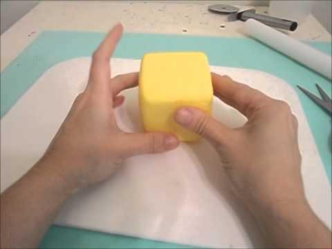 Encapar cubo de isopor