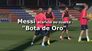GOLD - USD - Messi ya acaricia su cuarta