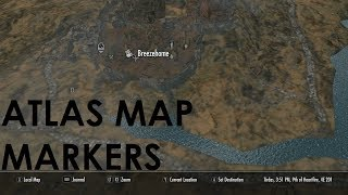 Skyrim Special Edition Mod Review Atlas Map Markers for Skyrim Reloaded