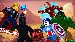 BLACK PANTHER vs AVENGERS!! - Roblox