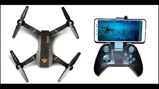 Foldable Wi-Fi Camera Drone | Transmitter or APP control HD Camera Drone 2 MP WiFi FPV Quadcopter