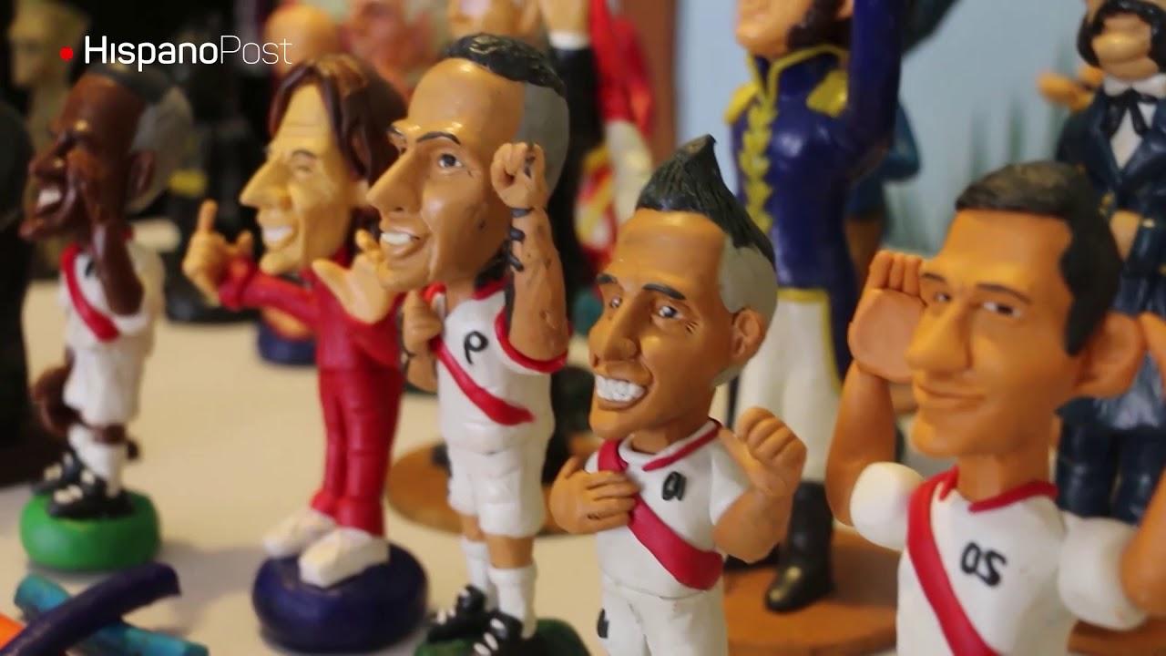Astros del fútbol peruano inmortalizados en plastilina.