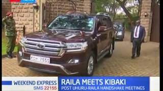 ODM party leader Raila Odinga meeting with retired president Mwai Kibaki