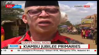 Aspirant Isaac Mwaura raises issues with the presiding officer in Ruiru