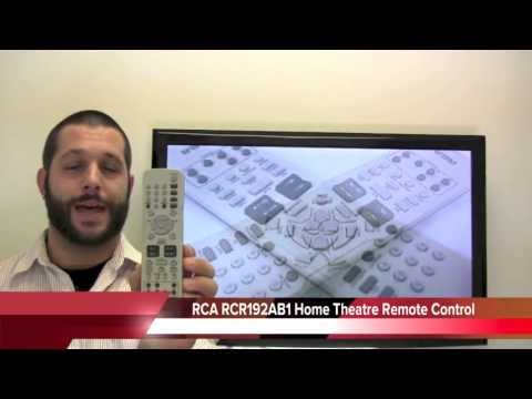 RCA RCR192AB1 Home Theater System Remote Control