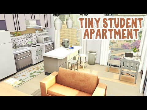 Tiny Student Apartment 🎓 || The Sims 4 Apartment Renovation: Speed Build