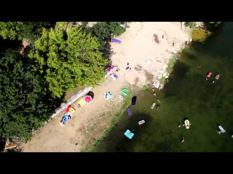 Vidéo aérienne de camping la Roubine