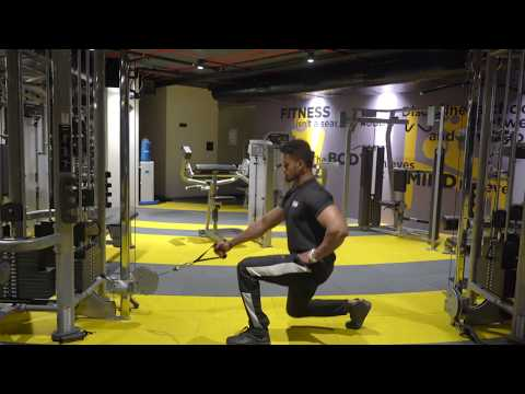 One Arm Cable Lunges