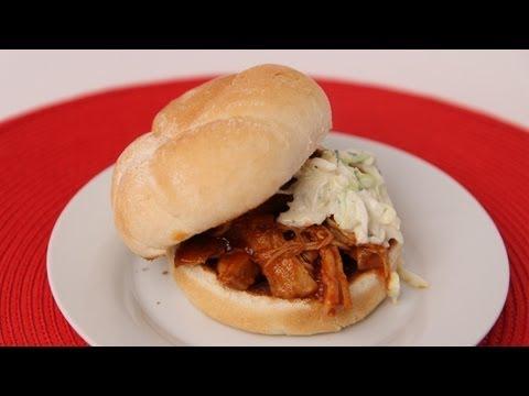 BBQ Pulled Chicken Sandwiches Recipe – Laura Vitale – Laura in the Kitchen Episode 418