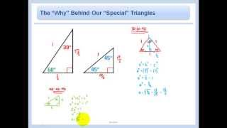 """Trigonometry - The """"Why"""" Behind Our """"Special"""" Triangles - 30-60-90 And 45-45-90"""
