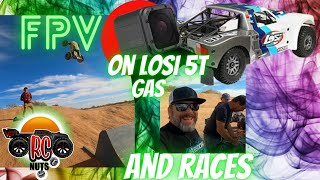 AWESOME 2-Stroke Losi 5T Gas [FPV Race] Arrma Kraton and Traxxas Maxx MAD Air - What Breaks First?