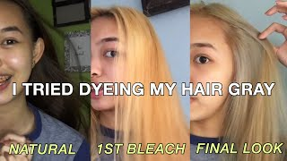 DIY BLEACH AT HOME + METALLIC GRAY | Philippines