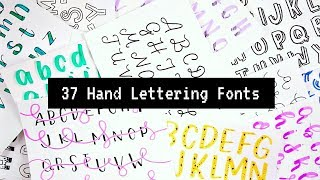 37 Hand Lettered Fonts! | How To Write In Different Styles