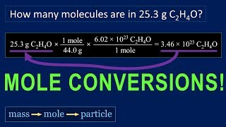 Mole Conversions Tutorial: How To Convert Mole - Mass, Mole - Particle, Mass - Particle Problems