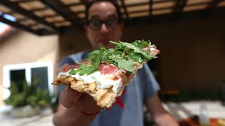 Best Grilled Prosciutto & Arugula Pizza Recipe By SAM THE COOKING GUY