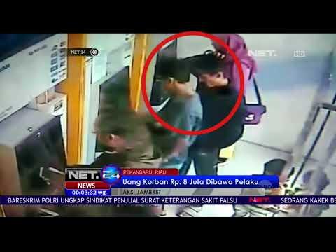 Aksi Jambret Di ATM Pekanbaru Uang Korban 8 Juta Dibawa Pelaku - NET 24