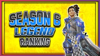 Ranking EVERY Legend (Worst to Best) Apex Legends Season 6