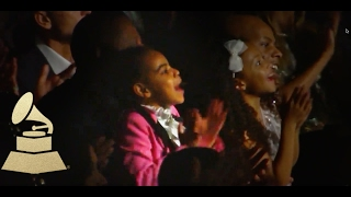 """Video thumbnail of """"Jay Z & Blue Ivy React to Beyonce Performance 