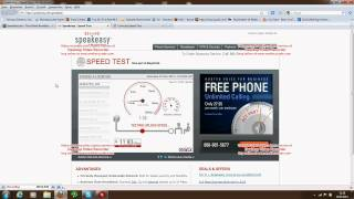 Comcast Speed Test (Peformance Package, 12 Mbit/s down; 2 Mbit/s up)