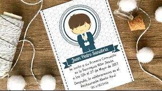 Comunión: Diseño Gratis de Invitación para Niño