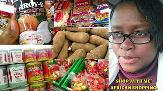 Vlog #1 | African/Nigerian Food Stuffs Shopping | Shop with me!