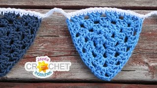 Granny Triangle Crochet Pattern & Tutorial - Make A Crochet Bunting