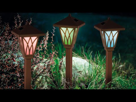 Lampa Solara LED tip Stalpisor Maro, RGB Multicolor, Lumina in Culori Alternante