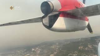 В ГСЧС показали видео тушения горящих лесов в Турции с украинских пожарных самолетов