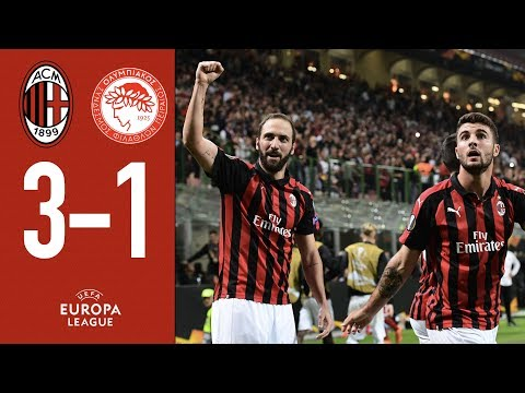 AC Milan 3-1 Olympiacos - Highlights - Europa League Group F Matchday 2