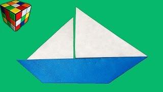 Как сделать КОРАБЛИК из бумаги. Парусник оригами своими руками. Поделки из бумаги
