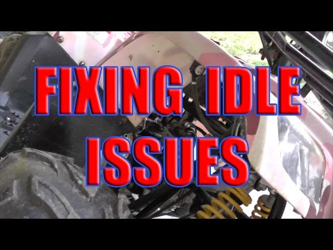 How to fix Taotao atv idle problem: China 110 ATV