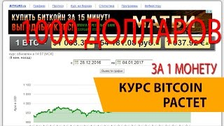 Курс валют Bitcoin пробил 1 000 долларов