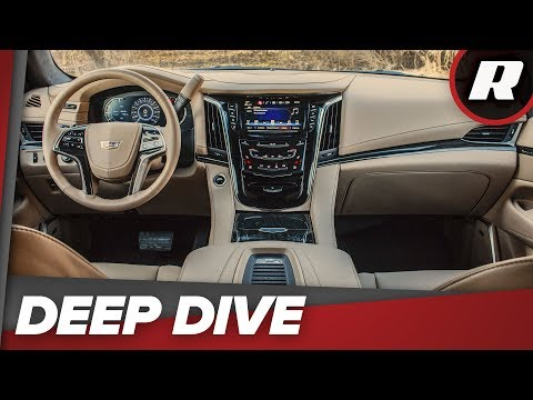 Look at all the tech jammed into the 2018 Cadillac Escalade ESV Platinum