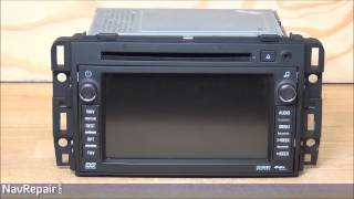 GM BUICK® CHEVROLET® DELPHI GPS Navigation Radio Repair Service