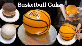 How To Make Basketball Cake/ Paano Gumawa Ng Basketball Cake