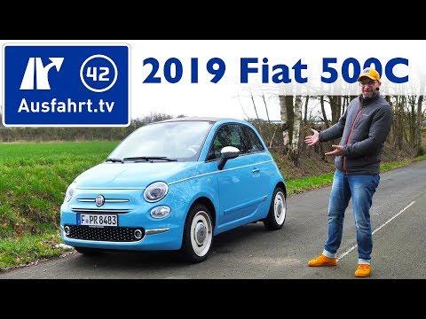 2019 Fiat 500 C 1.2 L Spiaggina`58  - Kaufberatung, Test deutsch, Review, Fahrbericht Ausfahrt.tv