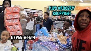 TOOK THE KID'S GROCERY SHOPPING!