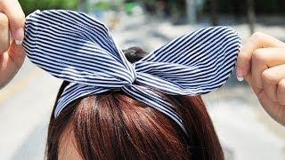 Cách Làm Băng Đô Tai Thỏ Từ Chiếc Áo Cũ - Bunny Ear Headband | Yêu Làm Đẹp