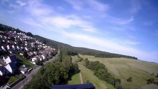 FPV Airplane Sky Surfer - One of the First flights - Special landings at the End