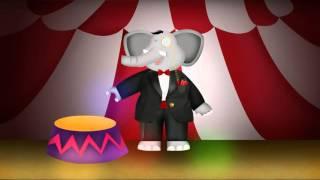 Un elefante muy elegante. Canciones infantiles. Canciones del jardín
